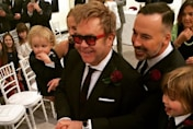 Elton John and David Furnish share adorable photos of their sons at their wedding