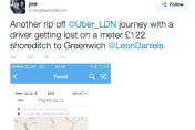 Uber passenger taken on tour of London and charged £121
