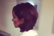 Cheryl Fernandez-Versini Instagrams new short hair