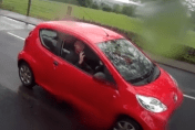 Video: Road rage...in reverse!