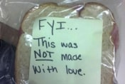 Funny notes left in kids' lunchboxes