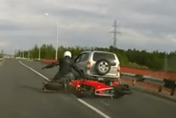 Cops scare speeding bikers into crash