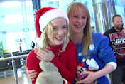 Daughter's amazing Christmas surprise after four years away from home (video)