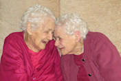 Identical great grandmothers aged 103 named Britain's oldest twins