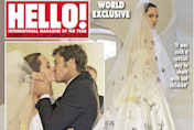 Angelina Jolie and Brad Pitt wedding photos