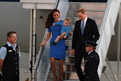 Kate Middleton, Duchess of Cambridge, Wows In Blue Stella McCartney As She Arrives In Canberra