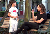 Child asks strangers for a lighter. Watch what happens