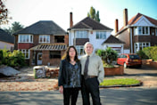 Fury as neighbour over-extends inches from home
