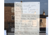 Chip shop owner leaves hilarious holiday notice in window