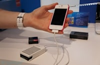 Rohm showcases colorful solid hydrogen-source fuel cell chargers at CEATEC