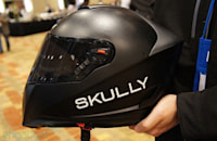 Skully P-1 helmet packs a heads-up display, rear-facing camera and Android to keep motorcyclists safe