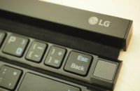 LG's roll-up keyboard is cute, but predictably uncomfortable