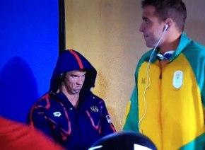 【リオ五輪】レース前に集中するマイケル・フェルプスの表情がコワすぎると海外ネット上で話題に
