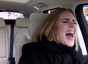 アデルが「相乗りカラオケ」でスパガ、カニエを熱唱!「歌唱力が半端なさすぎる」と絶賛の嵐【動画】