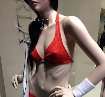 La Perla removes mannequin with protruding ribs
