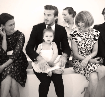 Even Anna Wintour can't deal with Harper Beckham's cuteness