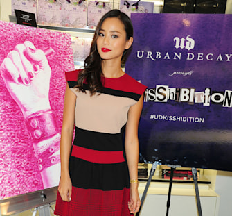 Get the look: Jamie Chung's sultry red lip