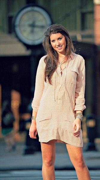 Street style tip of the day: Silky stripes