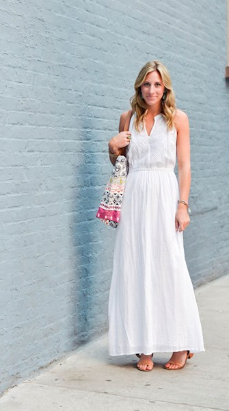 Street style tip of the day: Embroidered maxi