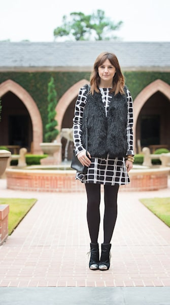 Street style tip of the day: Pane patterned