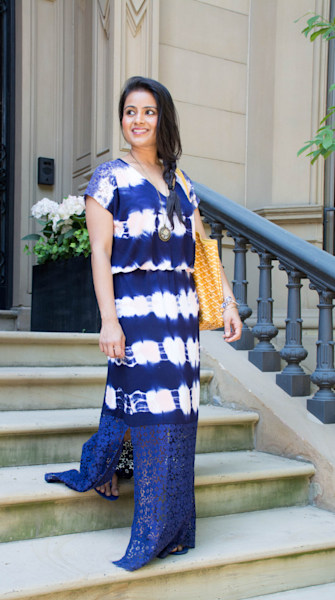 Street style tip of the day: Tie-dye maxi