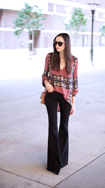 Street style tip of the day: Boho flare
