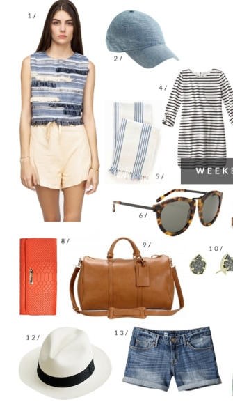 13 cute things you need for your weekend getaway