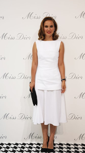 Natalie Portman is one white-hot mama in Dior