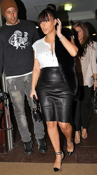 Kim Kardashian's Leather Obsession -- While Pregnant?