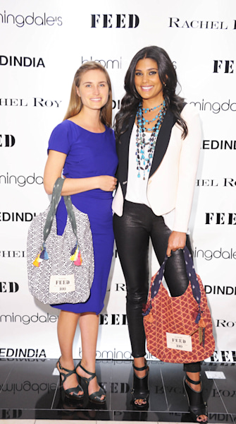Lauren Bush Lauren and Rachel Roy Launch FEED India Totes
