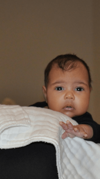 North West makes her grand debut! Check out the cutest. picture. ever.