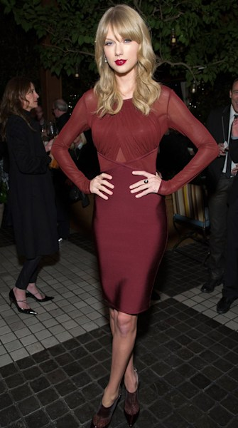 Taylor Swift stuns at the Weinstein company holiday party