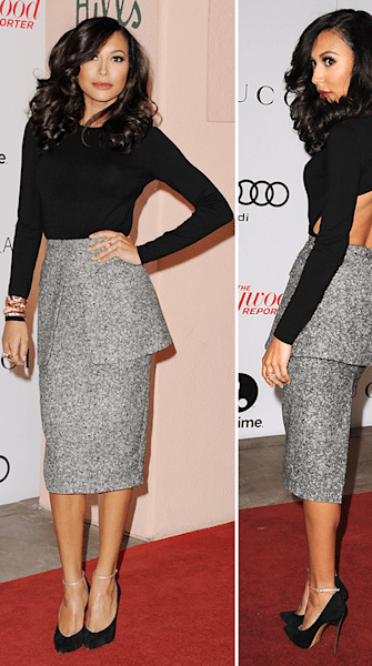 Naya Rivera sizzles in sophisticated tweed
