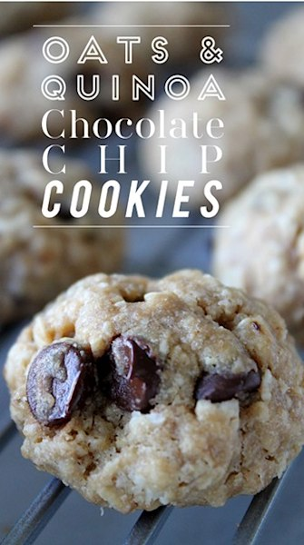 Make this: Guilt-free oats and quinoa chocolate chip cookies
