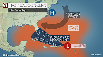 Brewing storm may threaten Florida as a hurricane