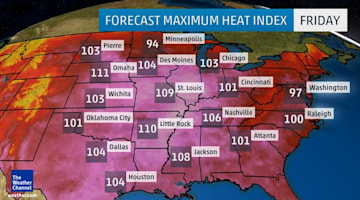 Dangerously high temperatures to hit one part of US