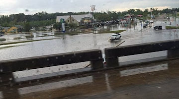 PHOTOS: Flooding shuts down major highways in Louisiana