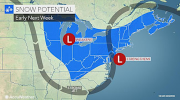 Snow may slow travel in northeastern US next week