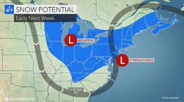 Snow may slow travel in northeastern US next week