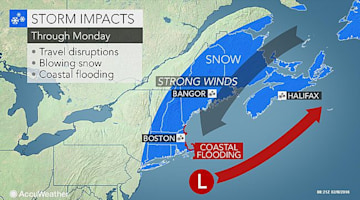Rounds of snow to create slick travel in northeastern US this week