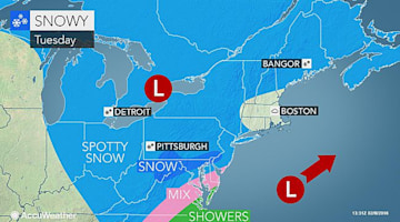 Snow to make roads slushy, icy from DC to Philadelphia, NYC Tuesday
