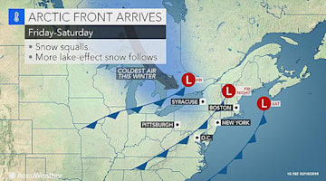 Snow squalls, whiteouts to blast Detroit to NYC to start Valentine's Day weekend