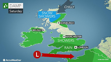 Windstorm to miss UK narrowly before Valentine's Day cold snap