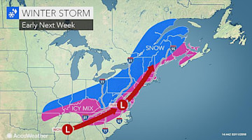 Snow and ice storm may snarl travel across southern, northeastern US on President's Day