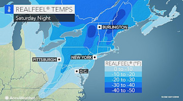 Valentine's Day: Dangerous cold to challenge records in Philadelphia, NYC and Boston