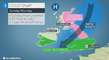 Cold snap to chill UK on Valentine's Day and Monday