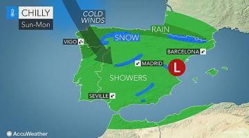 Spain: Valentine's Day weekend to bring northwestern flood threat, widespread cold