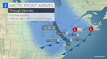 Sudden snow to quickly slick roads, create whiteouts from Ohio to New York and Maine