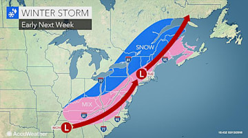 Snow and ice storm may snarl travel across southern, northeastern US on Presidents Day