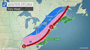 Snow and ice storm to hit southern, northeastern US on Presidents Day
